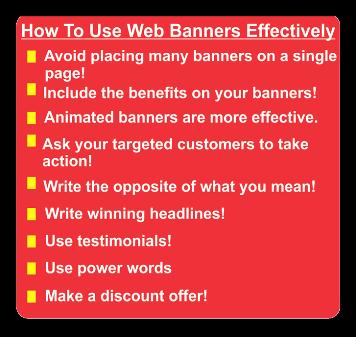 effective website banners