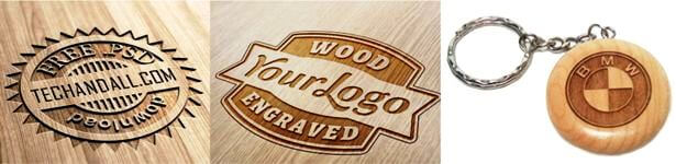 engraved company logos
