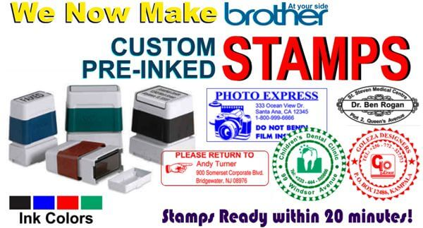 Brother Pre-inked Stamps Are Unbeatable In Quality. Assured!