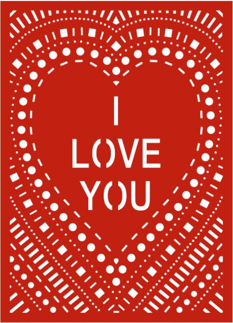 Laser-cut Dotted Valentines Day Card