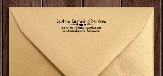 Rubber Stamp Customized Envelopes