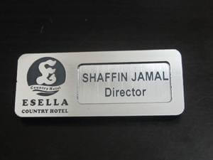 Silver Reusable Name Card