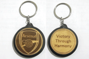 Arsenal Engraved Soccer Keychain