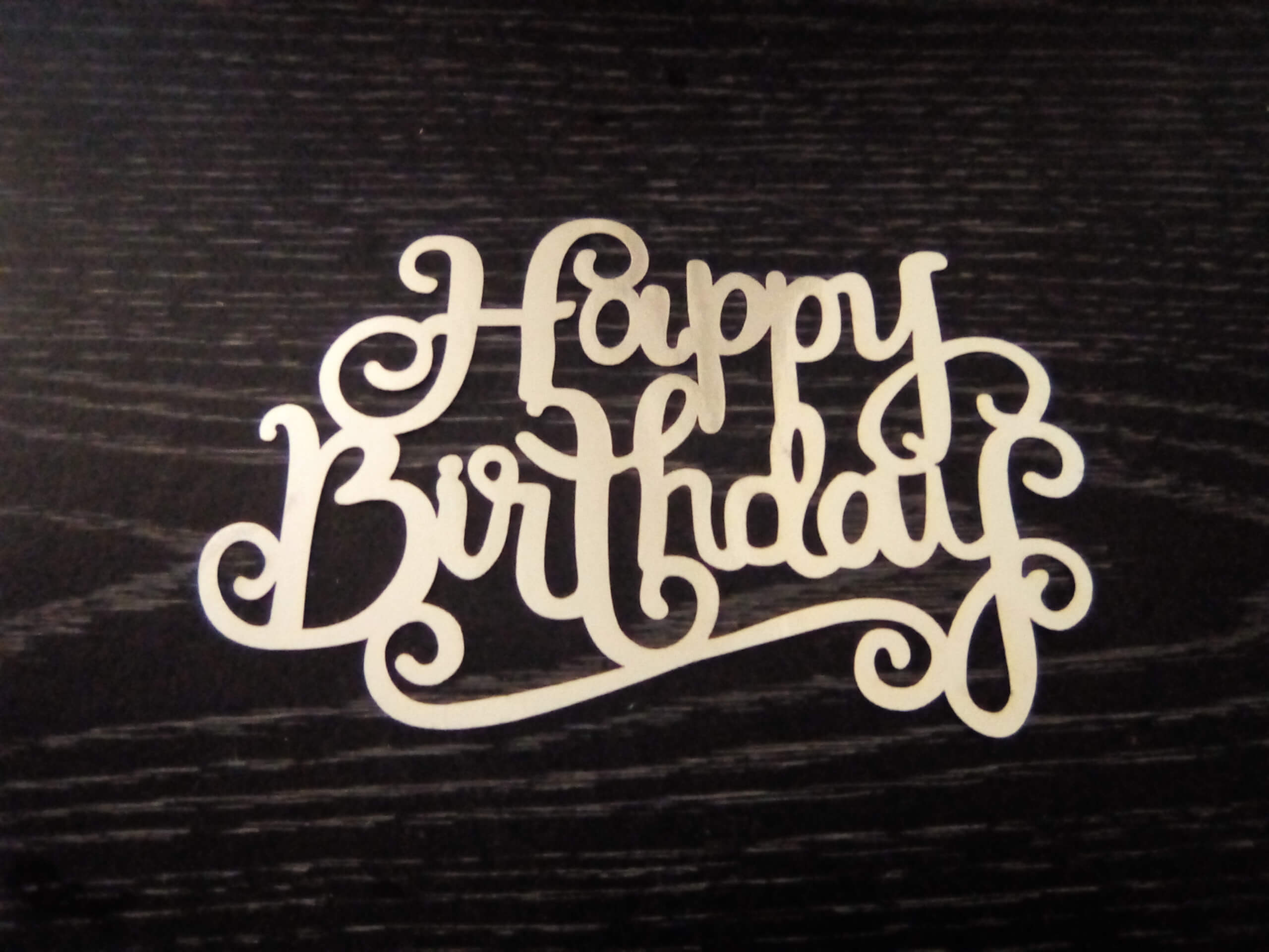underlined birthday cake topper