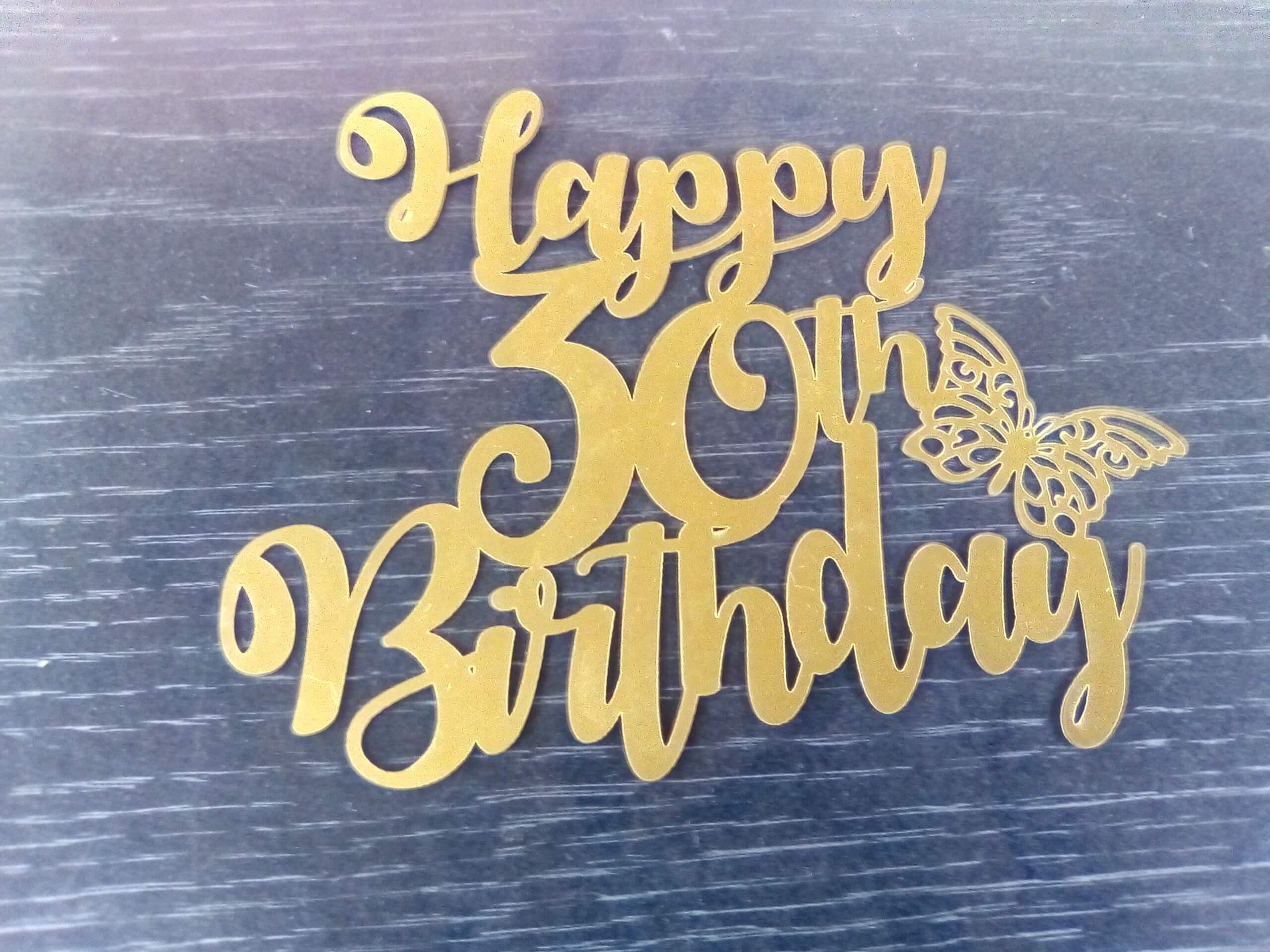 year happy birthday topper