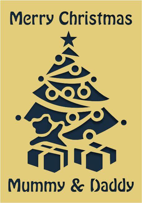 Laser-cut Christmas card