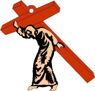 Jesus carrying cross wall hanging
