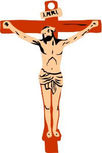 jesus on cross wall hanging