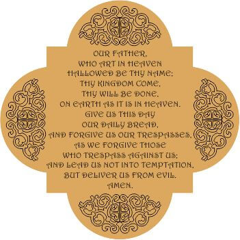 Our Father Prayer Wall Hanging