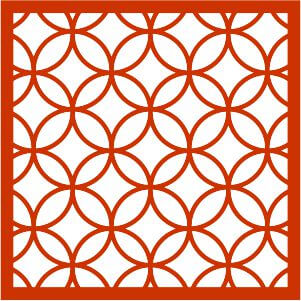 patterned wall hanging