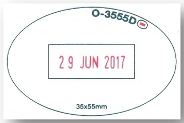 oval date stamp