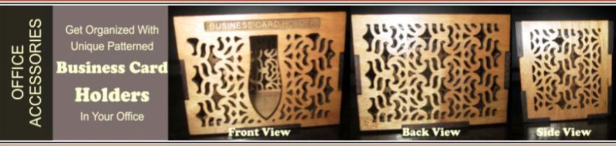patterned business card holders