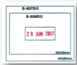 rectangular date stamp